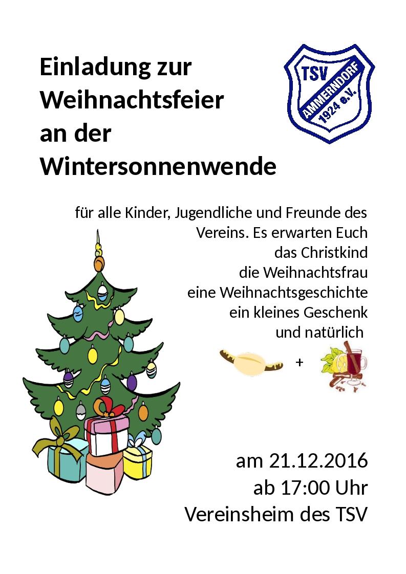 Text Einladung Weihnachtsfeier Verein.Weihnachtsfeier 2016